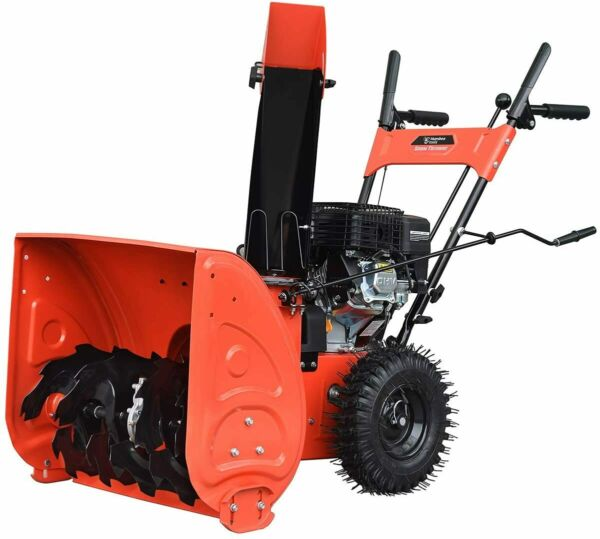 HUMBEE SB2 24168E Two Stage Gas Snow Thrower with AC Electric Start Engine 24quot;