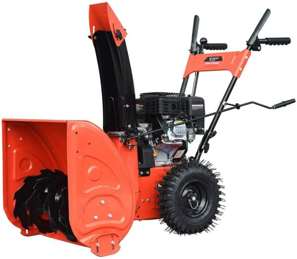 Humbee Tools SB2 24168M Two Stage Gas Snow Thrower with Manual Start Engine 24