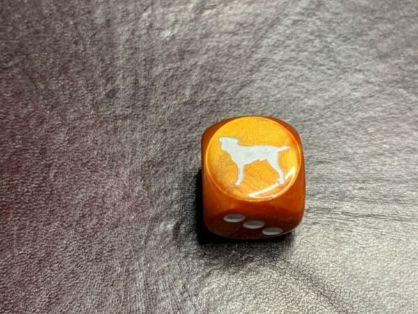 Labrador Dog Customized Six Sided Die Copper with White D6 RPG Gaming tabletop $2.00