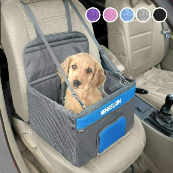 Henkelion Pet Dog Booster Seat Deluxe Pet Booster Car Seat for Small Dogs Mediu $38.95