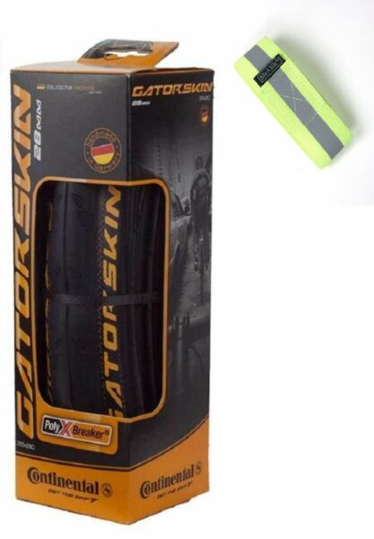 Bike A Mile Continental GatorSkin Bike Tires Folding tire with Reflective A... $21.99