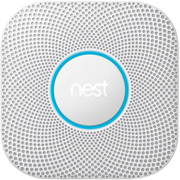 Google Nest Protect Wired Smoke and Carbon Monoxide Alarm White 2nd Gen $99.99