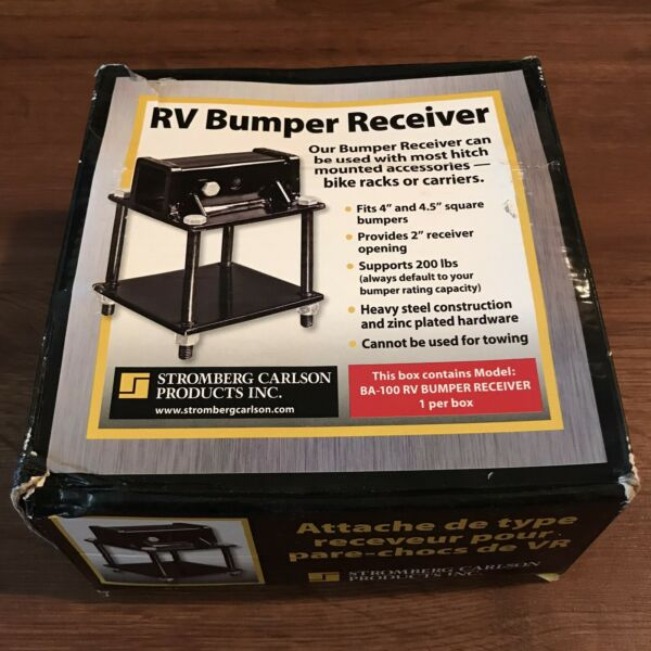New Stromberg Carlson BA 100 RV Bumper Hitch Adapter Receiver Bike or Carrriers $35.00