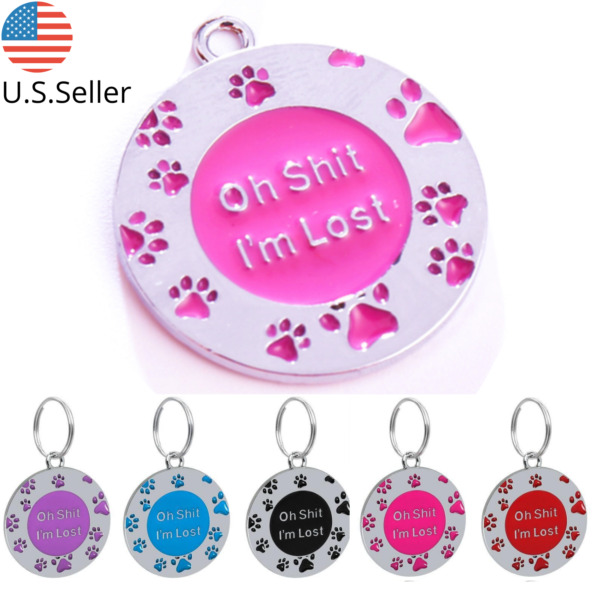 Buy 4 Get 1 Free √ FUN Dog Tags Pet Tag Cat Tag Name ID Engraved Personalized $4.95