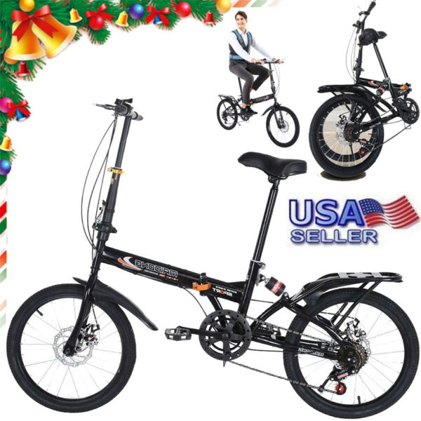 20inch 7 Speed ​​City Folding Compact Suspension Bike Bicycle Urban Commuters $121.59