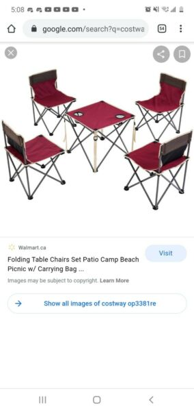 Outdoor table and chair set $50.00