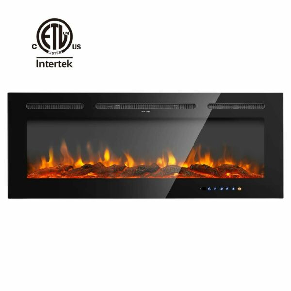 36#x27;#x27; 40#x27;#x27; 50#x27;#x27; 60#x27;#x27;Electric Fireplace Insert Heater Recessed Wall Mounted Remote
