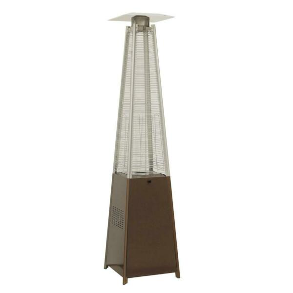 NEW HAMPTON BAY Pyramid Propane Patio Outdoor Heater 42000 BTU Hammered Bronze