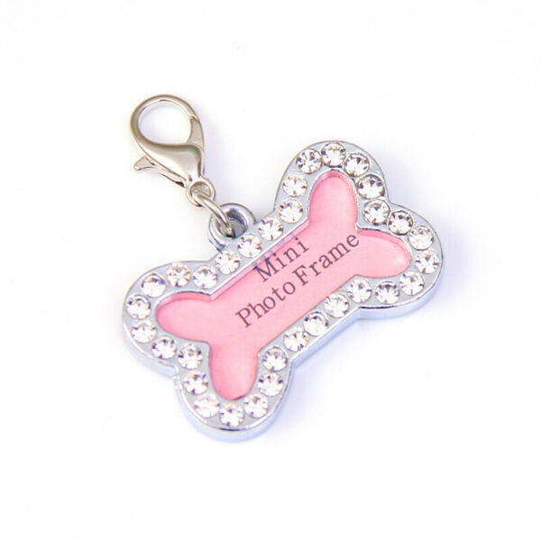 Bone Shaped Bling Sparkly Dog Tags Pet Tags Tag Personalized DIY $4.95