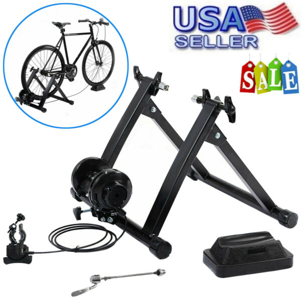 Indoor Bike Trainer Magnetic Exercise Stand Resistance Stationary for 26 28 inch $68.61