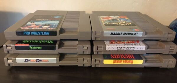 6 NES Games Nintendo Lot Great Shape Tested Boy amp; His Blob Shadowgate More $28.00