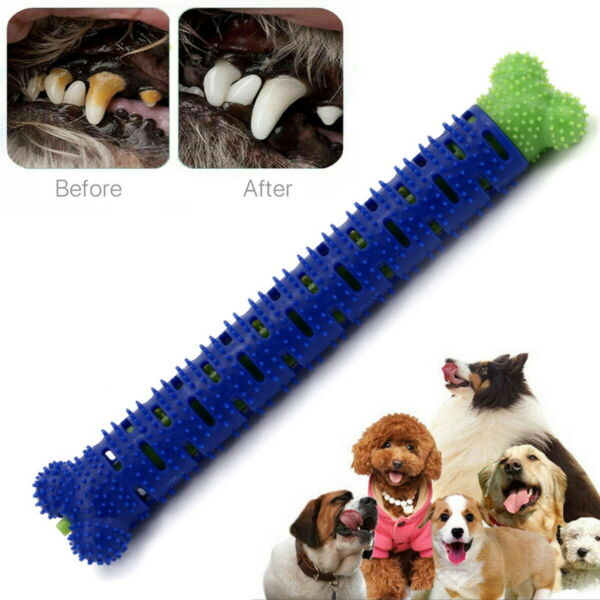 Dog Pet Oral Dental Care Cleaner Toothbrush Stick Dog Teeth Cleaning Chew Toys $7.19