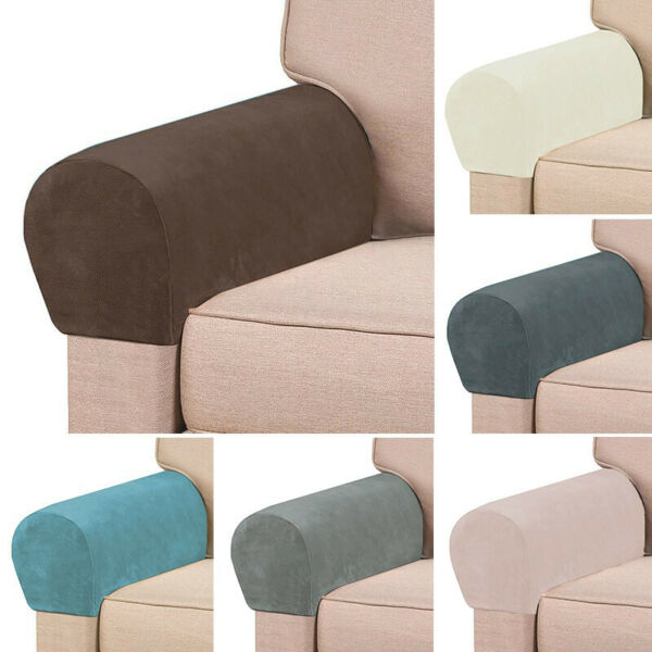2pcs Set Sofa Armrest Cover Stretch Slipcover Couch Arm Rest Protector US Stock $8.07
