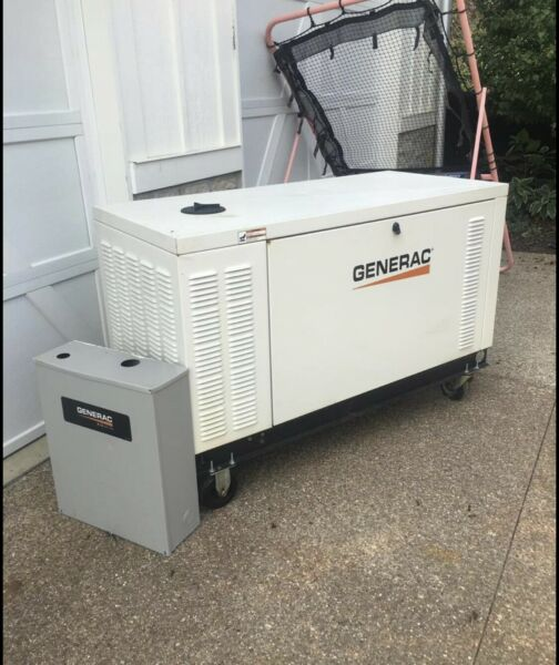 generac generator 25kw 3 Phase Natural Gas Only 206 Hours $6500.00