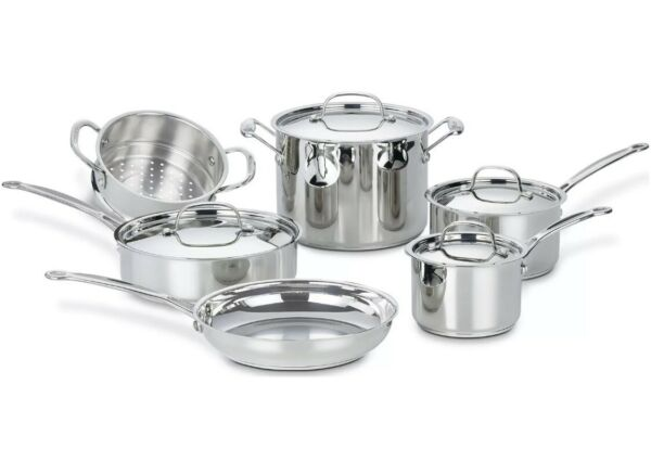 Cuisinart Stainless Steel Cookware 10 Pc Chef#x27;s Classic Cookware Set