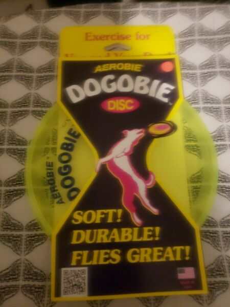 New USA Made Aerobie Dogobie Disc Outdoor Flying Frisbee Dog Dogs Toy GREEN A28 $12.99