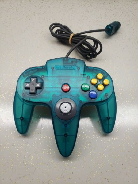 Nintendo N64 Ice Blue Controller OEM Funtastic Excellent CONDITION TIGHT STICK $44.99