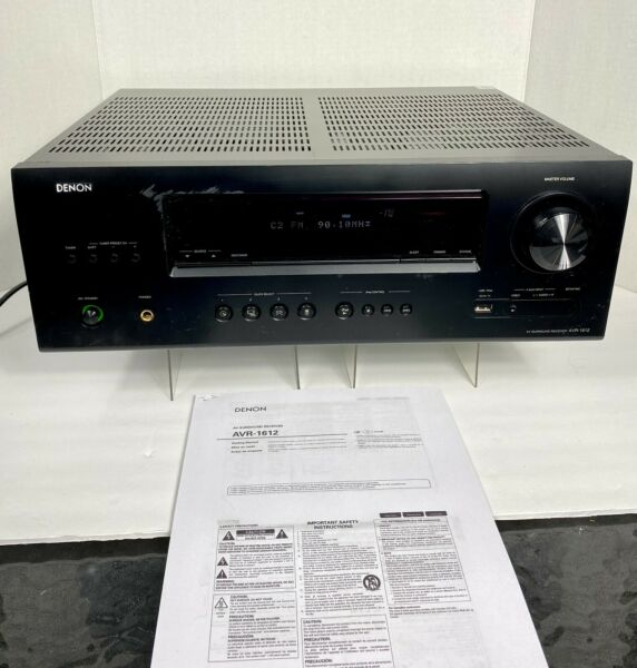 Denon AV Surround Receiver AVR 1612 5.1 Channel 3D HDMI USB iPod Gaming TESTED $109.49