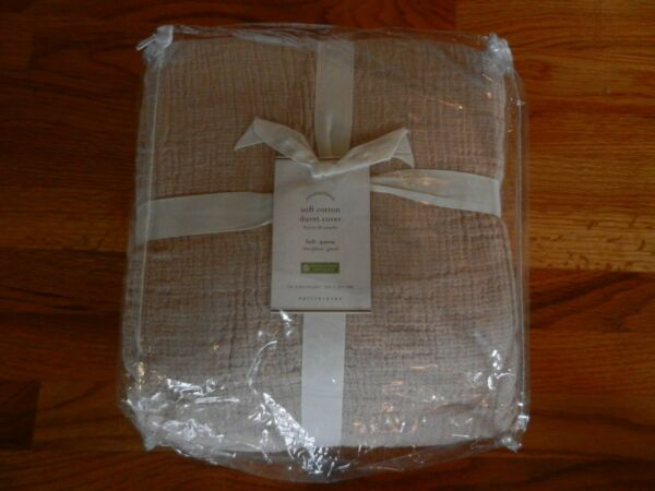 New Pottery Barn Soft Cotton full queen duvet cover Dusty Rose $69.95