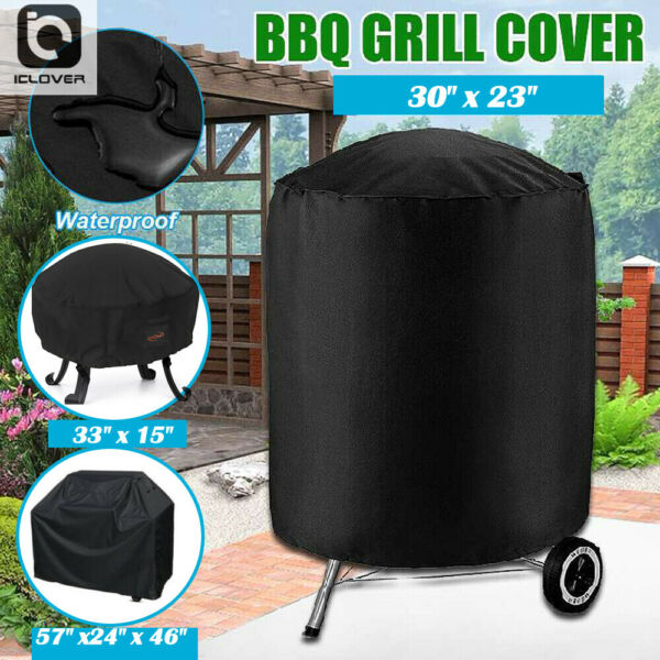 Waterproof BBQ Gas Kettle Grill Cover Fire Pit Barbecue Charbroil Protector 600D