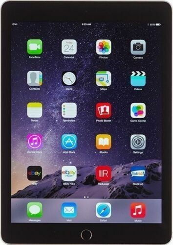 Apple iPad Air 2 64 GB Wi Fi 9.7in Space Gray Newest IOS 15 Excellent Condition