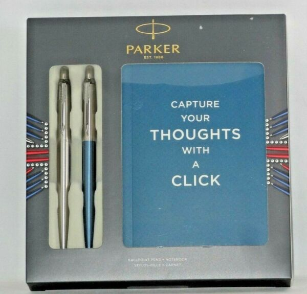New Parker Jotter Duo Ballpoint Pen Notebook GIFT SET