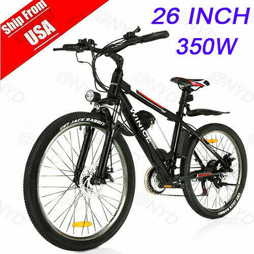 VIVI 26quot; 350W Electric Bike Mountain Bicycle EBike SHIMANO 21Speed 36V h 17 $599.99