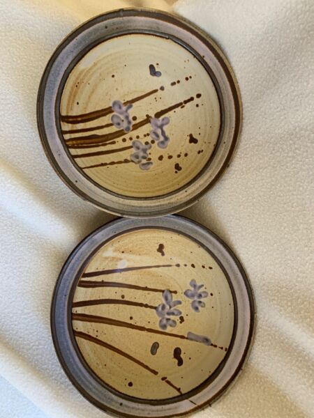 Vintage 83 William Bill Creitz Signed Pottery Bowls Set of 2 $35.00
