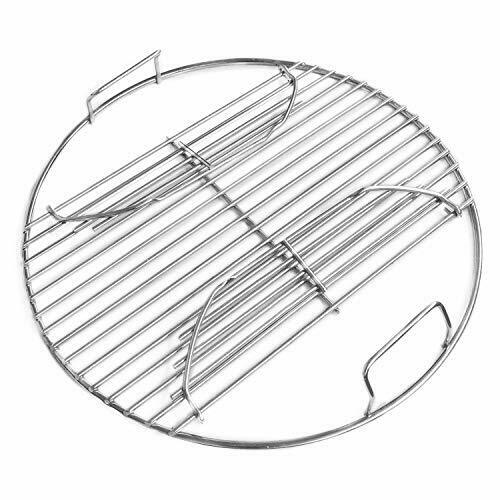 Stainless Steel Charcoal Grill Cooking Replacement Grate now with Hinges 13.5quot;