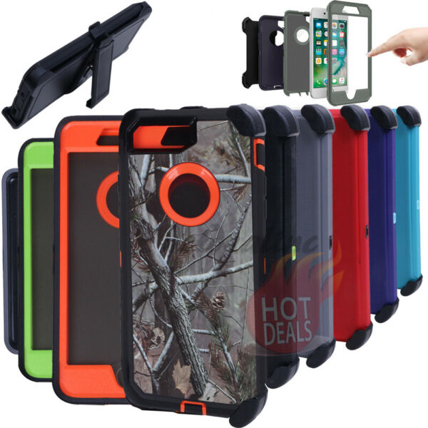 For iPhone 8 8 Plus Defender Case Rugged Shockproof With Clip fits Otterbox
