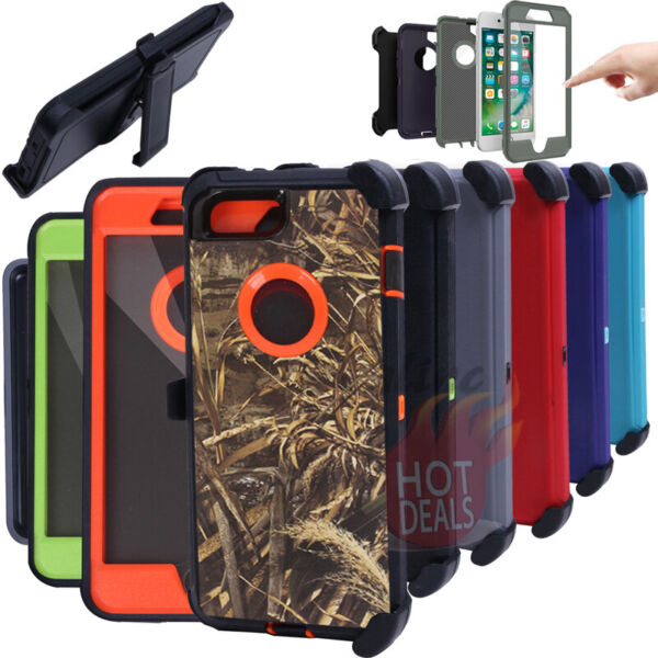 For iPhone 6 6S Plus Defender Case Rugged Shockproof With Clip fits Otterbox