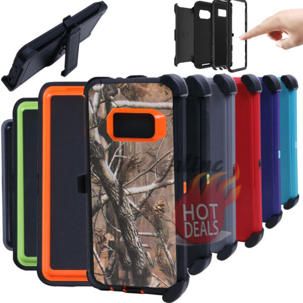 For Samsung Galaxy S8 S8 Plus Defender Case Rugged Shockproof Clip Fits Otterbox