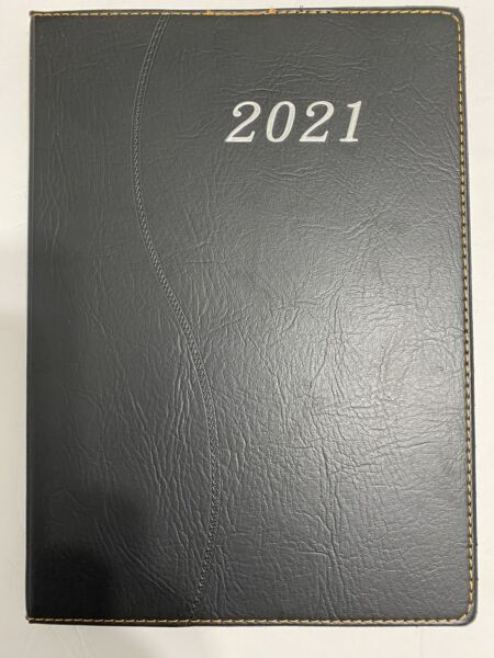 2021 Daily Planner Journal Calendar Organizer Appointment Book RED BLACK 7x10