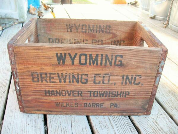 Vintage Rare Wood Beer Crate WYOMING BREWING CO Wilkes Barre Pa Prohibition
