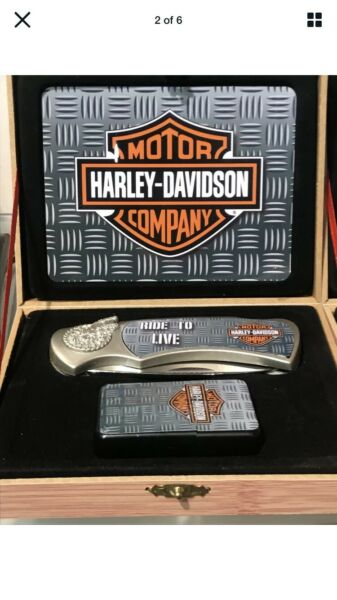 Harley Davidson Collector Set knife lighter and box nice gift $29.99