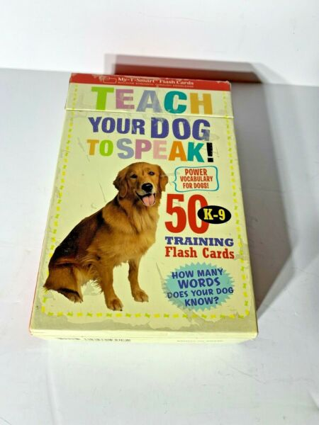 Teach Your Dog to Speak : 50 K 9 Training Flash Cards Pre owned $12.95