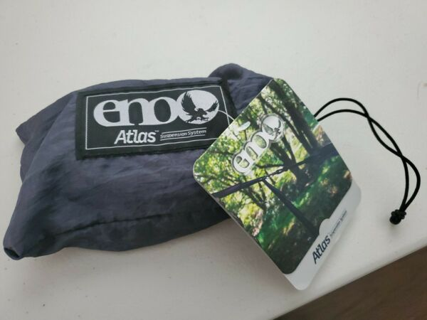 ENO Eagles Nest Outfitters Atlas Hammock Straps Suspension System Black amp; Blu $30.00