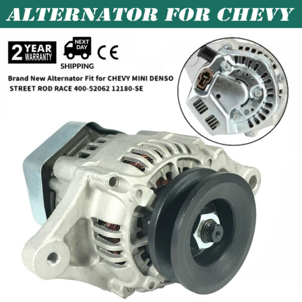 Alternator Fits Chevy Mini Denso Street Rod Race 1 Wire 400 52062 12180 SEN 12V $39.99