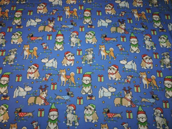Christmas Dogs Gifts Cotton Fabric 1 2 Yard $8.50