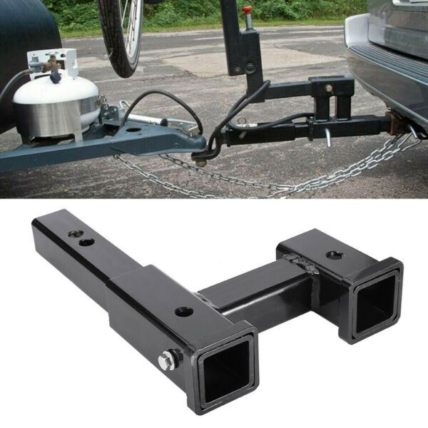 Truck Dual 2quot; Trailer Hitch Receiver Rise Drop Adapter Extender Tow 4000LB $27.89