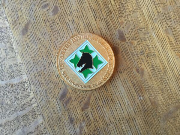 Fort Carson Colorado Mountain Post Iron Horse Team 4th Infantry Division Coin $10.99