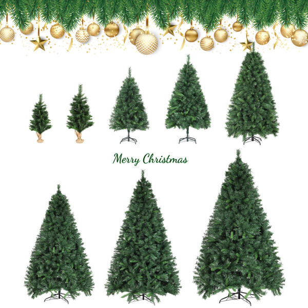 2#x27; 4#x27; 6#x27; 7#x27; 8#x27; Green Artificial Christmas Tree w Stand Holiday Home Decoration