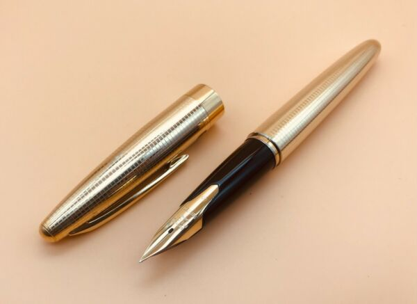 Namiki PILOT Fountain Pen #x27;60s Vintage Pilot Custom Elite R14K Nib Gold 18k