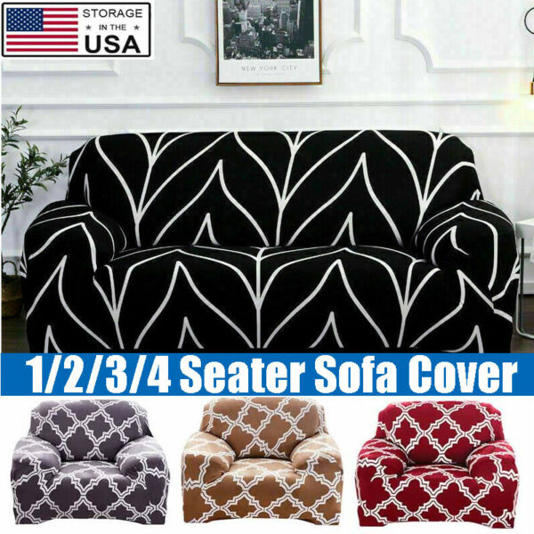 High Stretch Sofa Covers 1 2 3 Seater Non Slip Slipcover Furniture Protector US $20.86