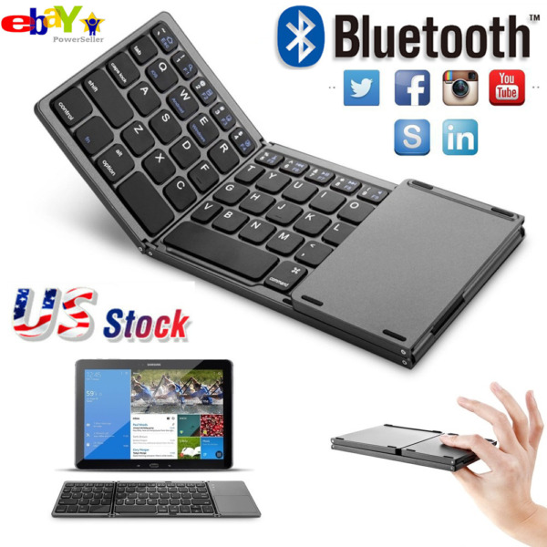 Foldable Windows Bluetooth3.0 Keyboard Wireless for iOS Android USA TOP Quality $27.99