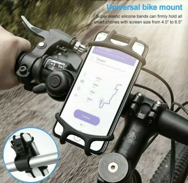 Bicycle Motorcycle MTB Bike Handlebar Silicone Mount Holder for Cell Phone GPS $7.99
