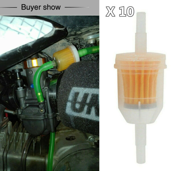 6 8MM 1 4quot; Fuel Filters Small Engine Inline Gas Fuel Line Motorcycle Accessories $13.40