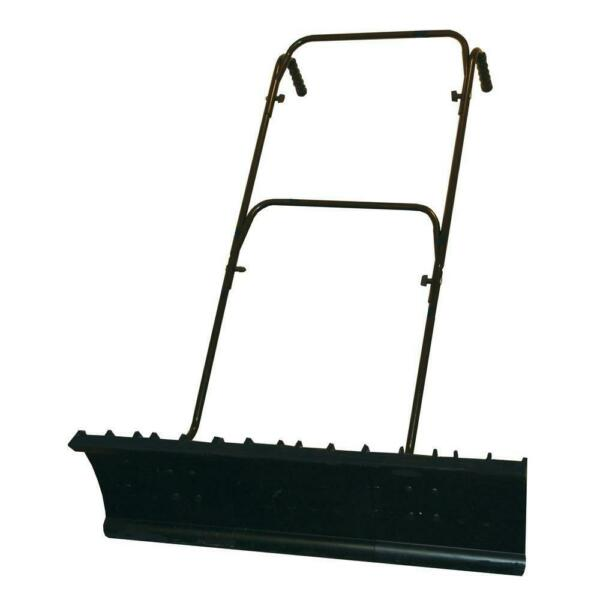 36 in. Wide Push Snow Shovel Lightweight with Adjustable Handle and Sharp Edge
