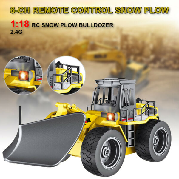 1:18 RC Truck Remote Control Snow Plow 6 Channel 2.4G Alloy Snow Sweeper 4WD