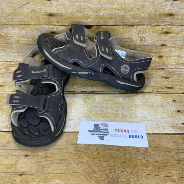 Timberland Boys Waterproof Brown Easy Close Sandals Size 4 $19.99